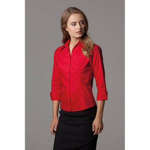 Women's corporate Oxford shirt 3/4 sleeved