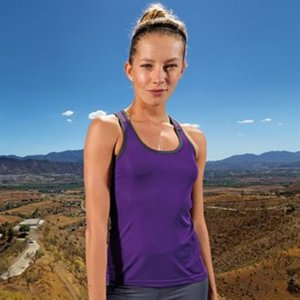 Women's panelled TriDri® fitness vest